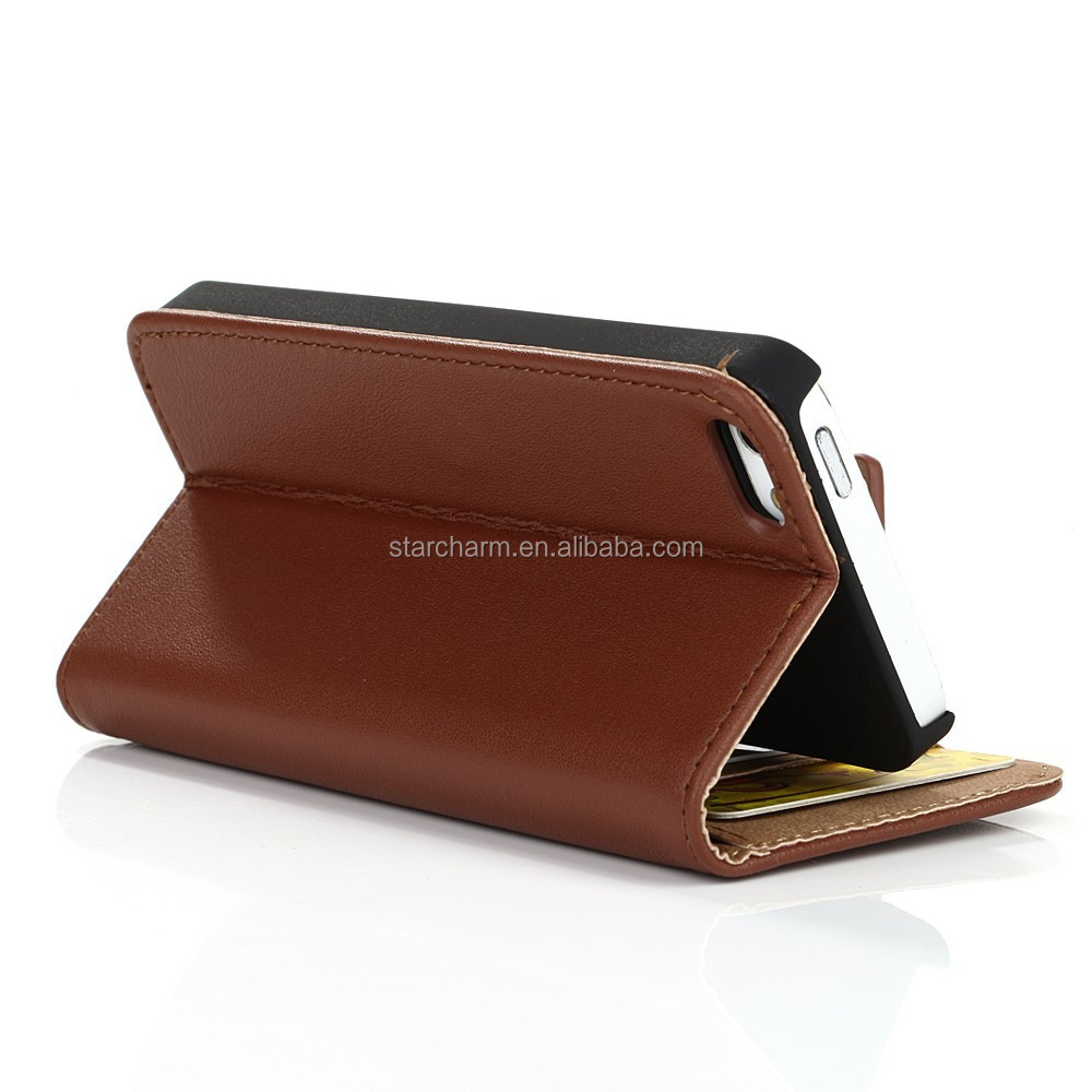 China wholeale genuine leather for Iphone 5 fancy cover cases