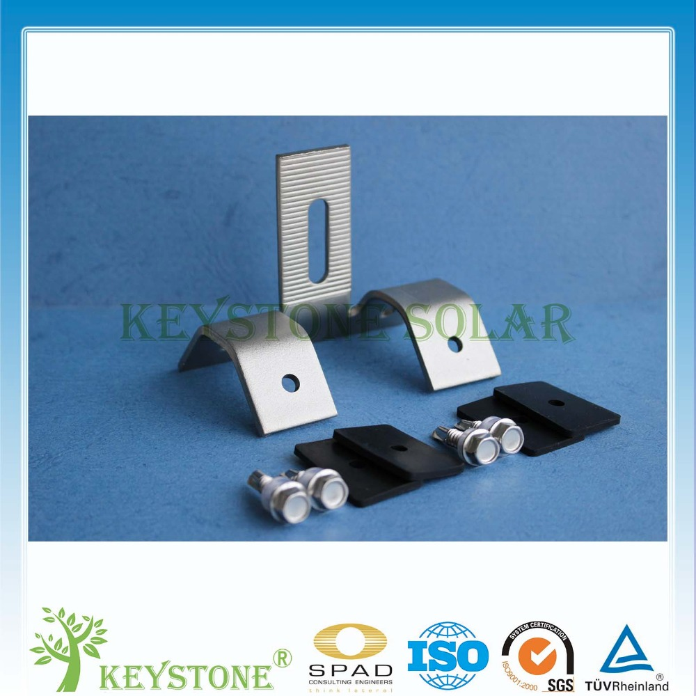 Lowest pricing tin roof hooks for the solar panel mounting install