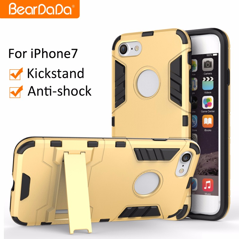 Hybrid 2 in 1 kickstand protective case for iphone 7