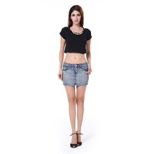Denim Skirt 2015 Young Ladies Fancy Sexy Short Denim Skirts