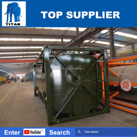 Titan bitumen tank , ISO crued oil bitumen tank container with heating system , 30ft tank container