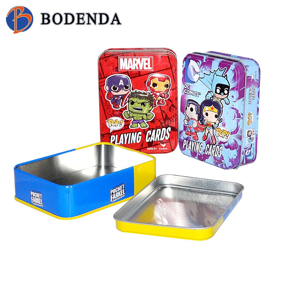 Lovely print rectangle shaped mini Tin box