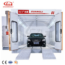 2018 CE approved car painting automotive spray booth with pressure doors