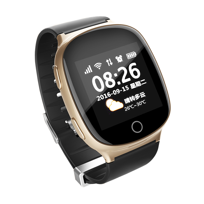 Elderly GPS Watch D100/Touch Screen  Sim Card Mobile Watch Phone/Bluetooth GPS Tracker SOS Fall Down Alarm