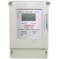 DTSY7666 Three phase electric kwh prepaid electricity meter smart card and stop digital power meter