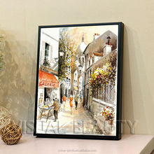 Modern Custom Street Scene Oil Painting On Canvas