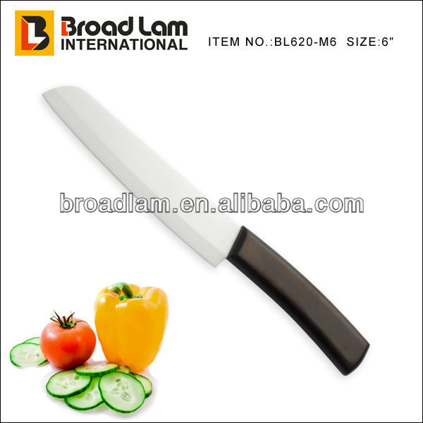 Ceramic Blade Santoku with Wooden Handle 6 inch Chef Knife