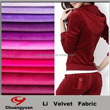 Haining Fashion Winter Colorful Design Knitting Velvet Wear Girl Dresses Fabric For Garment Wholesales