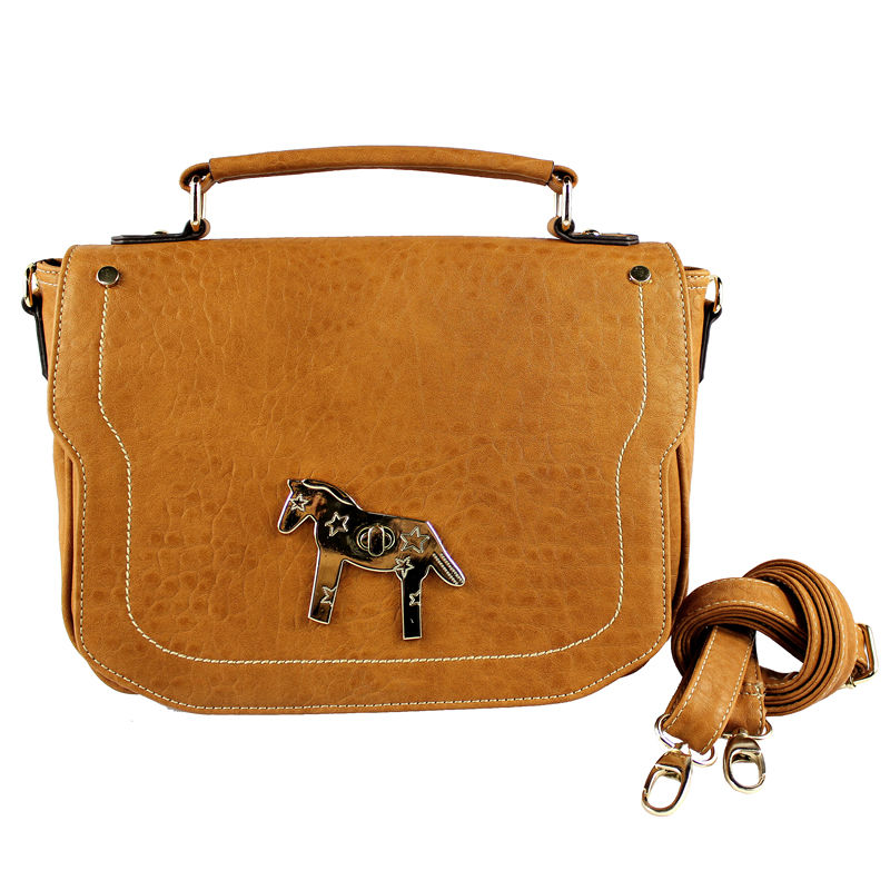 high fashion horse-clasp satchel shoulder bag