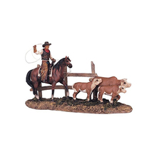 Resin Western Cowboy on Horse Figurine for decoration