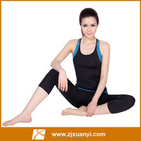 2015 new Women's Yoga sets yoga clothes suit sport vest shorts Aerobics Workout clothes female fitnessTops Sportswear for women