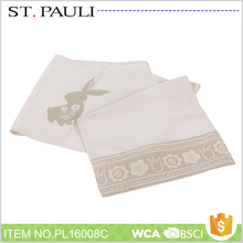 simple design easter style restaurant cotton tablecloth with rabbit pattern