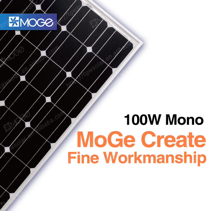 Moge Monocrystalline and polycrystalline China Solar Panel Price 100w 150w 200w 12v