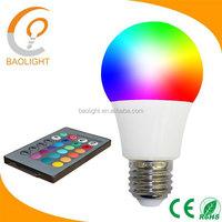 CE rgb led bulb 16 Colors Changing 7W magic smart E27 RGB LED light + IR Remote Control