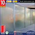 Australian standard 10 years warranty frosted glass office partition wall sliding door