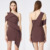 Wholesale Shoulder slope ladies formal midi dress