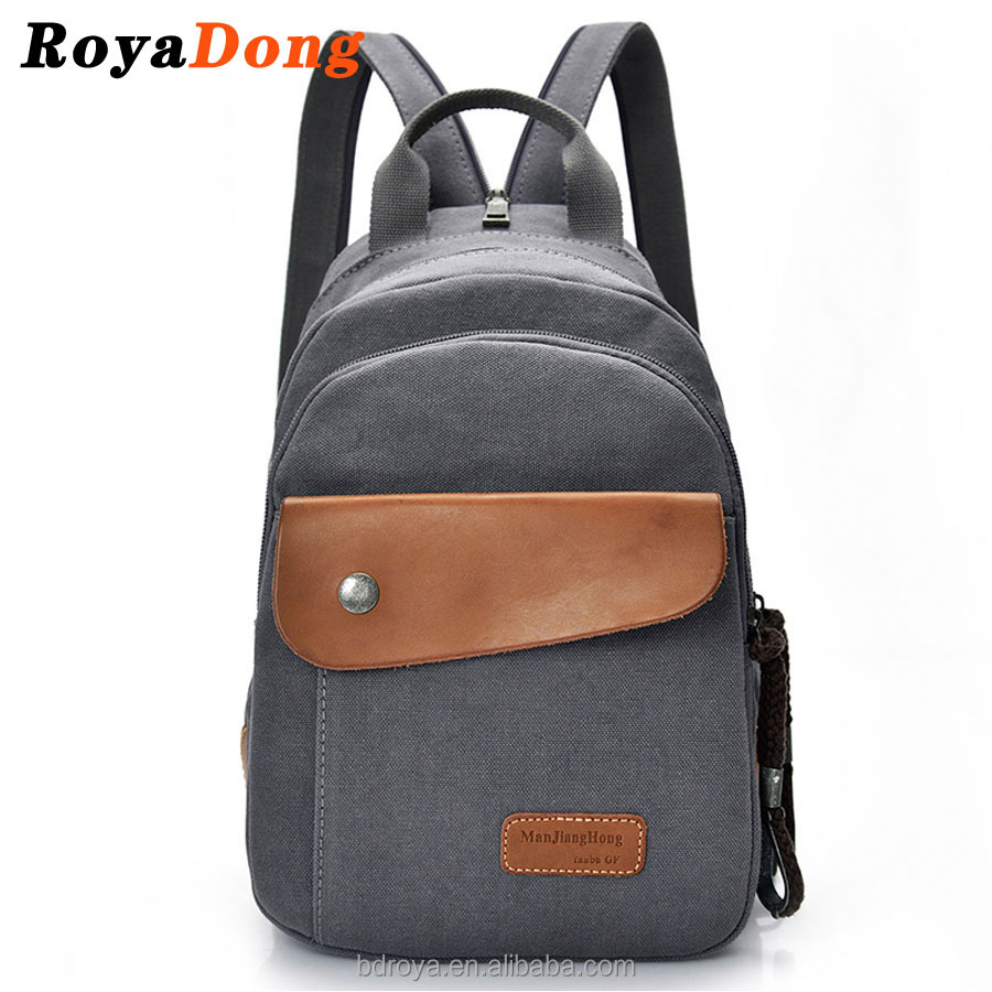 RoyaDong Men's Backpacks High Quality Vintage Canvas Man Shoulder Bag Travel Messenger Bags