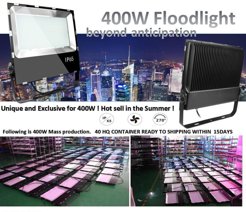400W Ultra Slim Led Floodlight with CE RoHS High Lumen of 170lm/w