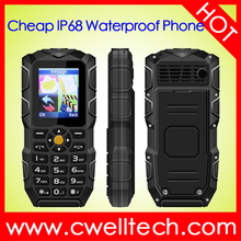2500mAh Big Battery IP68 Waterproof Powerful Torch mobile phone
