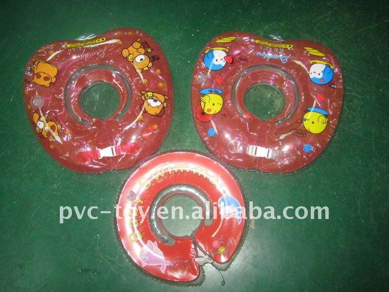 inflatable baby neck swim ring with logo printed for promotional