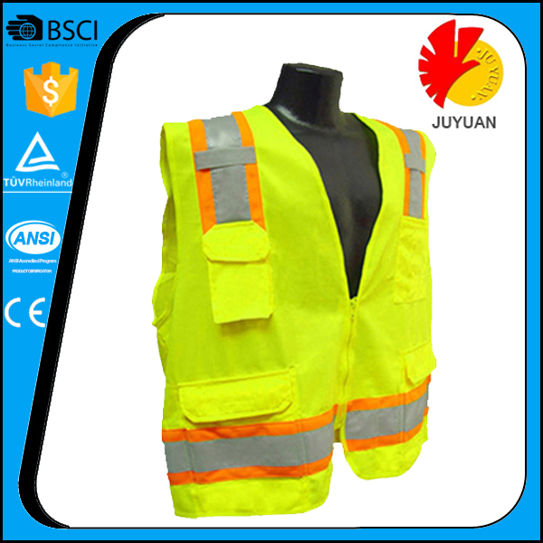 Fluorescent motorcycle airbag vest