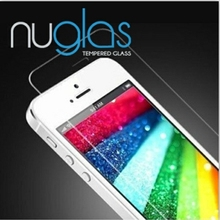 0.2mm clear gold real tempered glass screen protector for iphone5