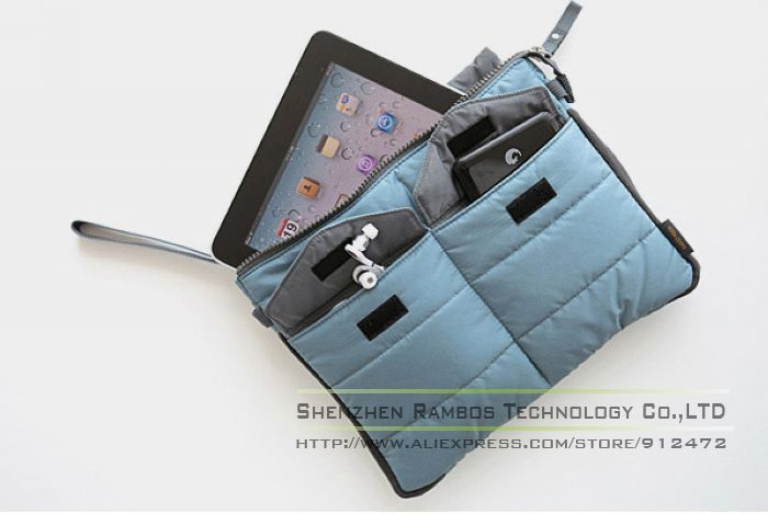 Notebook or Laptop Sleeve Bag Case for iPad for 7-10 inch Tablet PC Handbag with Hand Strap