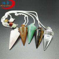 Semi precious stone mixed crystal healing stone pendulum metaphysical products