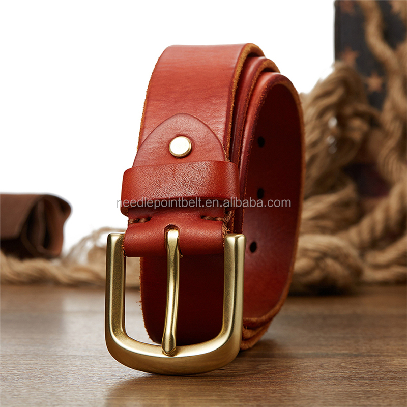 Fashion Men Vegetable Tanned Leather <strong>Belt</strong>