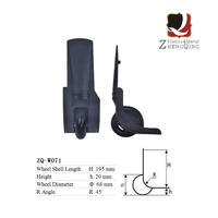 Travel Bag Accessories Detachable Castors Parts For Wholesale