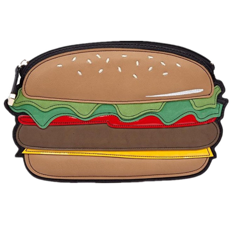 Fashion Women Bag PU Leather Bag Trendy Clutch women hand bags Hamburger Bag Free Shipping
