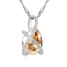 11356 import artificial crystal necklace clip pendant