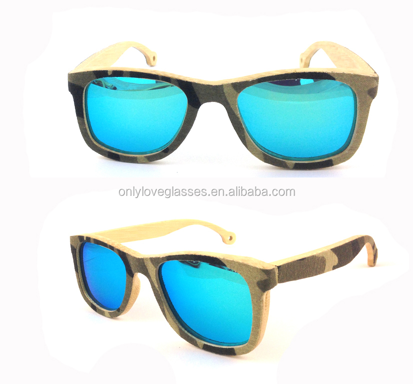 2016 new fashion Jeans Bamboo Sunglasses