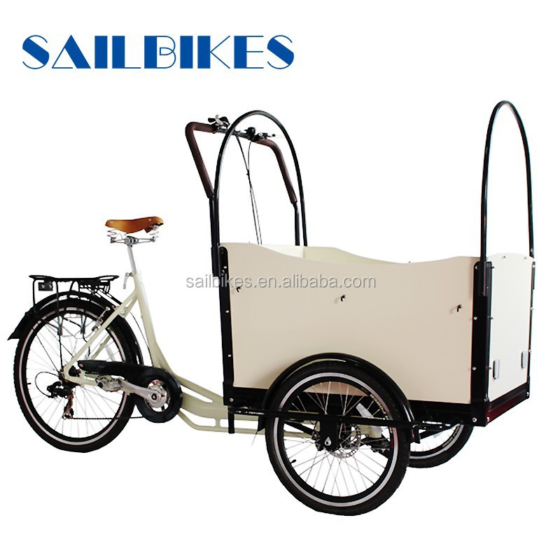 dutch van cargo tricycle for carring kids