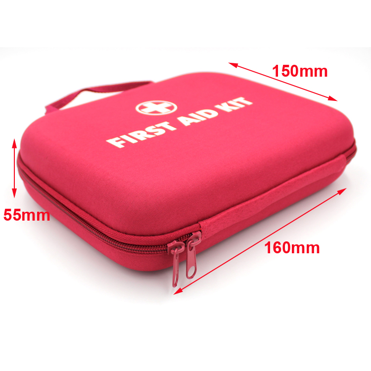 Hardcase travel eva convenient medical portable first aid kit for family