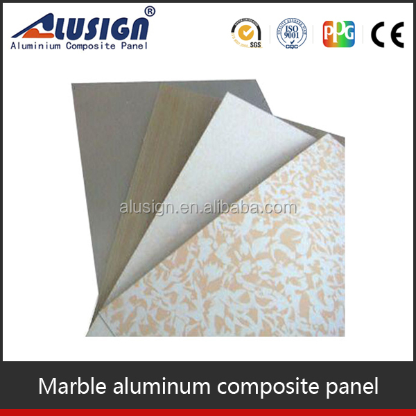 Alusign advanced construction material colorful stone coated metal roofing sheet aluminum composite panel acp sheet