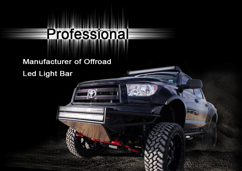 50'' 500w dual row off road led light bar off road led lights 12v
