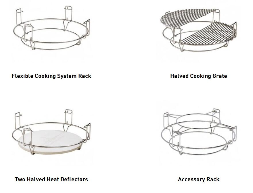 Aupelx Kamado Accessories Divide&Conquer Cooking System