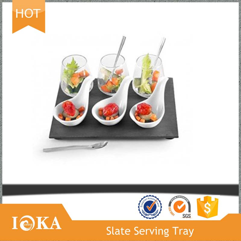 China Manufacture dishes pizza slate tray with Factory Price