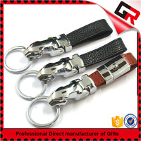 Wholesale eiffel tower and leather purl charms key chain fob