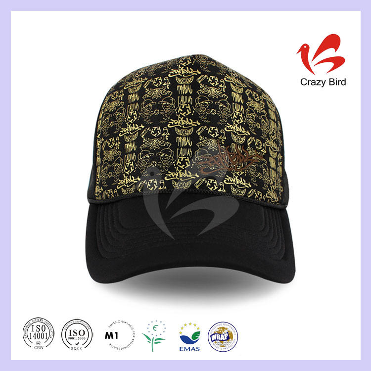 Best Selling High Quality Trade Assurance Fancy Trucker Cap Screen Print Mesh Hat No Minimum
