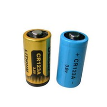 China supplier lithium ion battery CR123A 1500mah for camera use