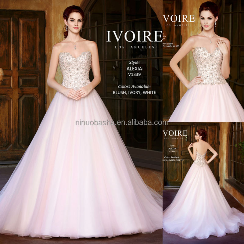Pink Sweetheart Backless Long Tail Ball Gown Wedding Dress 2014 Kitty Chen Charming Beaded Bridal Gown Custom Made NB0610