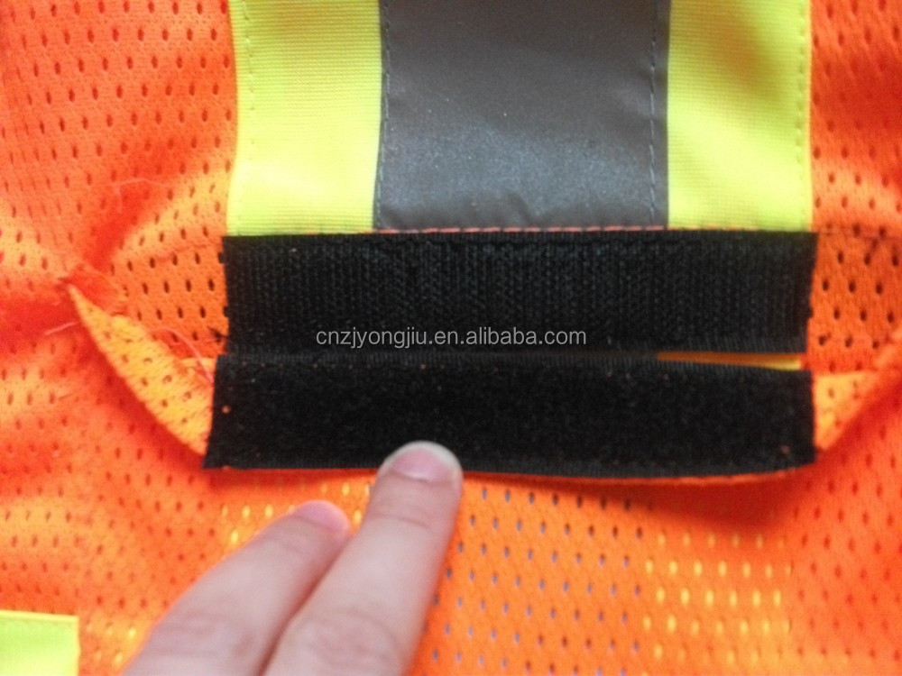 cleaning work Mesh fabric High visibility reflective vest with pockets and belts