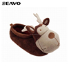 SEAVO AW18 cute 3d animal deer style customise winter brown kids indoor shoes