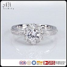 0.50 Carat Bride Pakistani Vintage Real Diamond Engagement Wedding Rings in White Gold