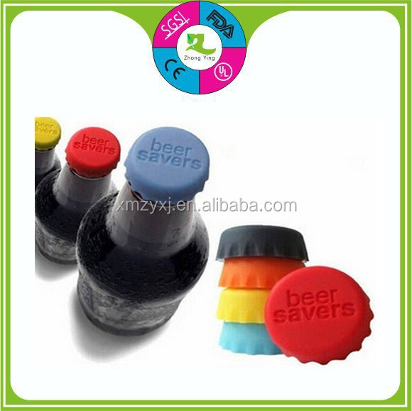 customized FDA Beer cover bottle stopper silicone beer cap