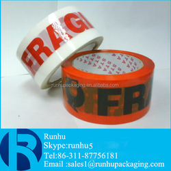 fragile red back tape with custom logo tape for sealing