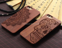 2015 Original customized logo engraved wooden case for iphone 5s case wood and pc china wholesale