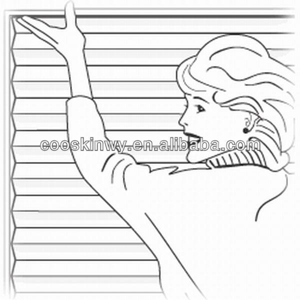 Papel personalizado plissado persiana, persianas de vidro de papel plissado